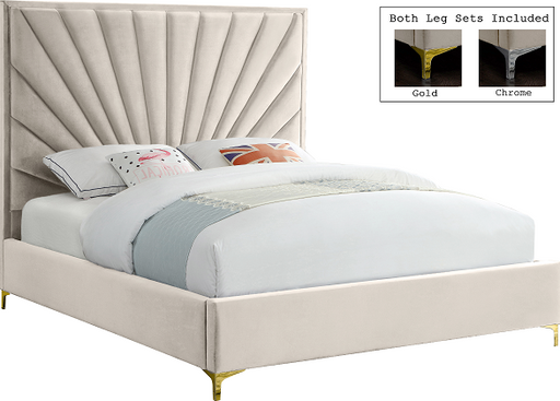 Eclipse Cream Velvet Queen Bed image