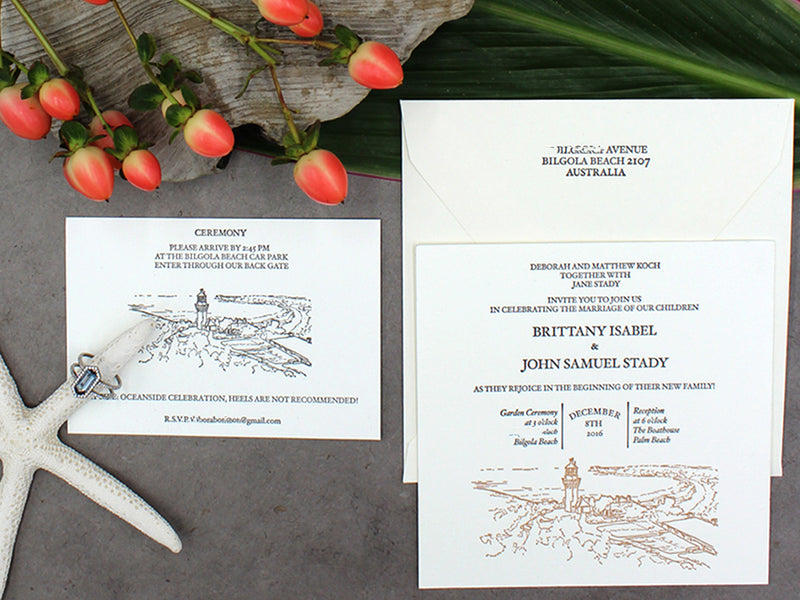 AUSTRALIAN BEACH WEDDING INVITATIONS