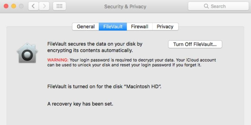 OS X's FileVault Encryption