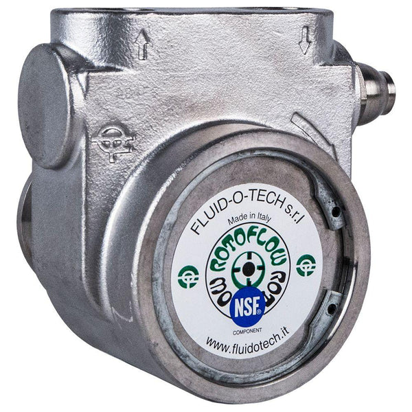 "Fluid-O-Tech 211 Stainless Steel Rotary Vane Pump 75 GPH - 1/2"" NPT"