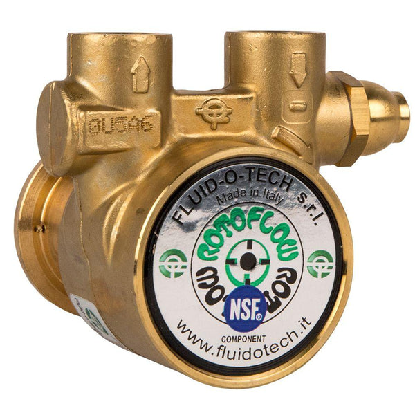 "Fluid-O-Tech 1001 Lead Free Brass Rotary Vane Pump 320 GPH - 1/2"" FNPT"