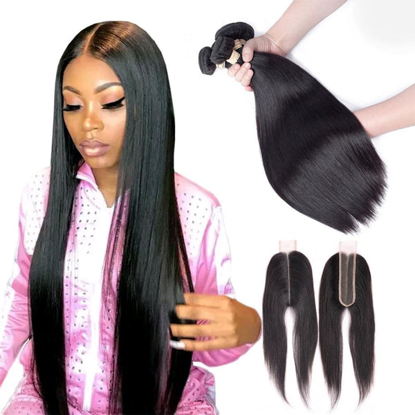 10A Grade Straight Brazilian 100% Unprocessed Virgin Hair Extension