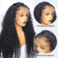 BeuMax Hairs Human Hair Wigs with 13x4 Lace Frontal - 180% Density,