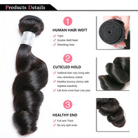 10A Grade Brazilian 100% Unprocessed Virgin Weave Hair Extension Loose