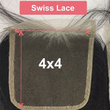 Super double drawn 4x4 / 5x5 Transparent  Lace Closure Pre-Plucked