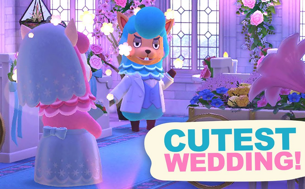 Designing a WEDDING in Animal Crossing New Horizons
