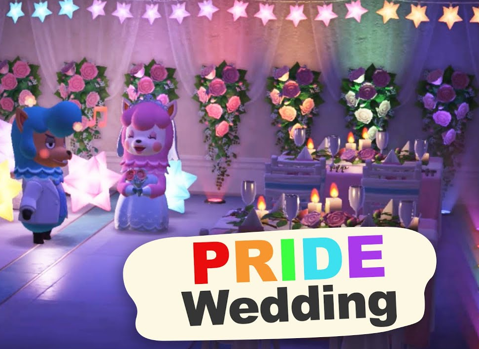 Designing a PRIDE WEDDING reception in Animal Crossing New Horizons🌈