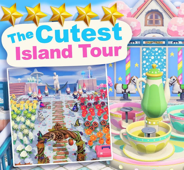 The CUTEST 5 Star Island Tour (830 Hrs) in Animal Crossing