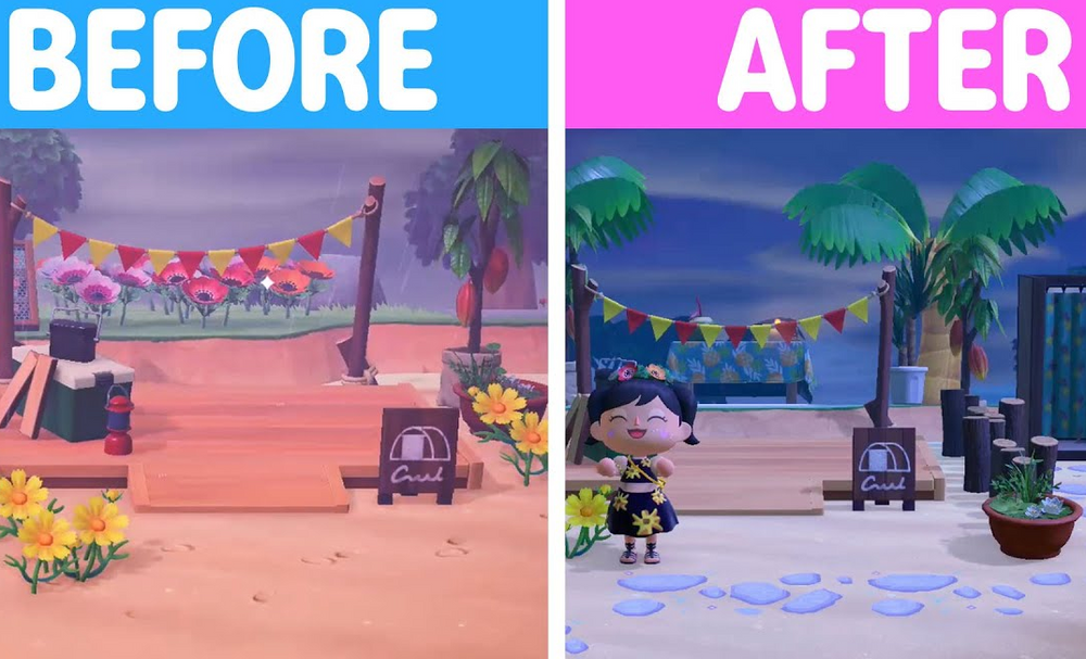 Beach Campsite MAKEOVER in Animal Crossing New Horizons