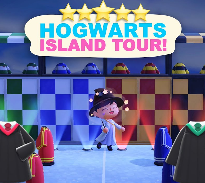 Hogwarts Island Tour!(700 Hours) 5 Star Island Tour in Animal Crossing New Horizons