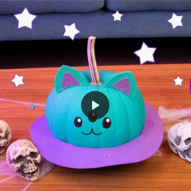 Cosmo Caturn Pumpkin DIY