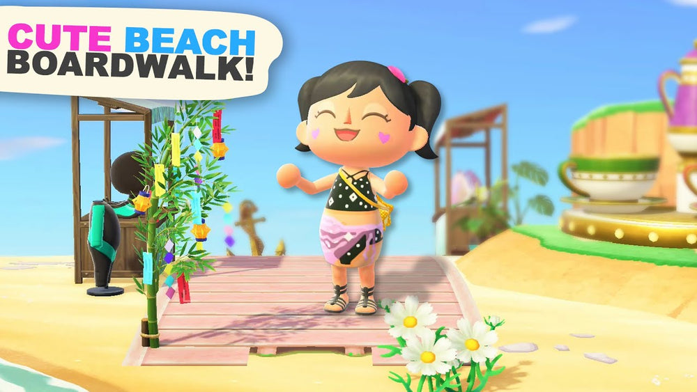 Creating a Beach BOARDWALK in Animal Crossing New Horizons