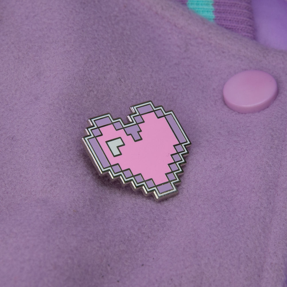Pastel Pixel Heart Pin