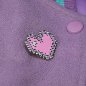 Load image into Gallery viewer, Pastel Pixel Heart Pin