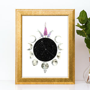 Load image into Gallery viewer, Zodiac Cancer Art Print by Tiffyquake
