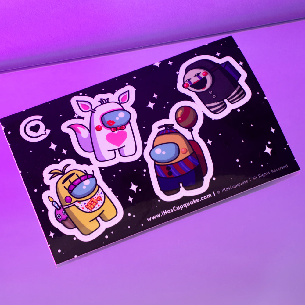 Load image into Gallery viewer, SUS Animatronic Beans - Sticker Sheet