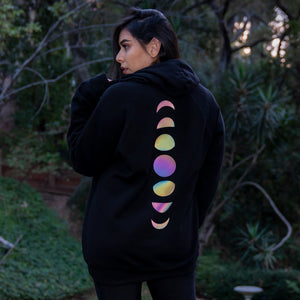 Load image into Gallery viewer, Moon Phase Reflective Hoodie by iHasCupquake