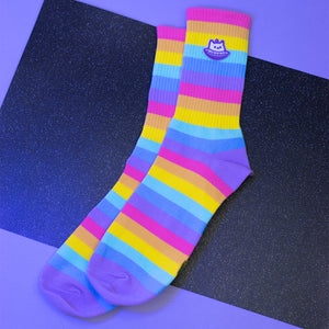 Load image into Gallery viewer, Rainbow Sock Bundle (2 pairs)