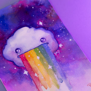 Load image into Gallery viewer, Dream Puff Art Print by Tiffyquake