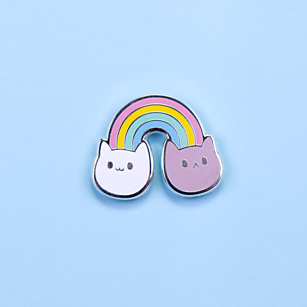 Load image into Gallery viewer, Pastel Rainbow Kitties Pin