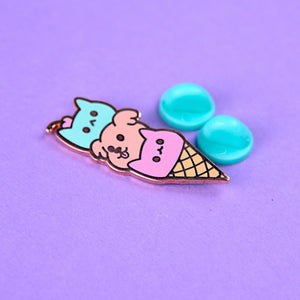 Triple Scoop Pin
