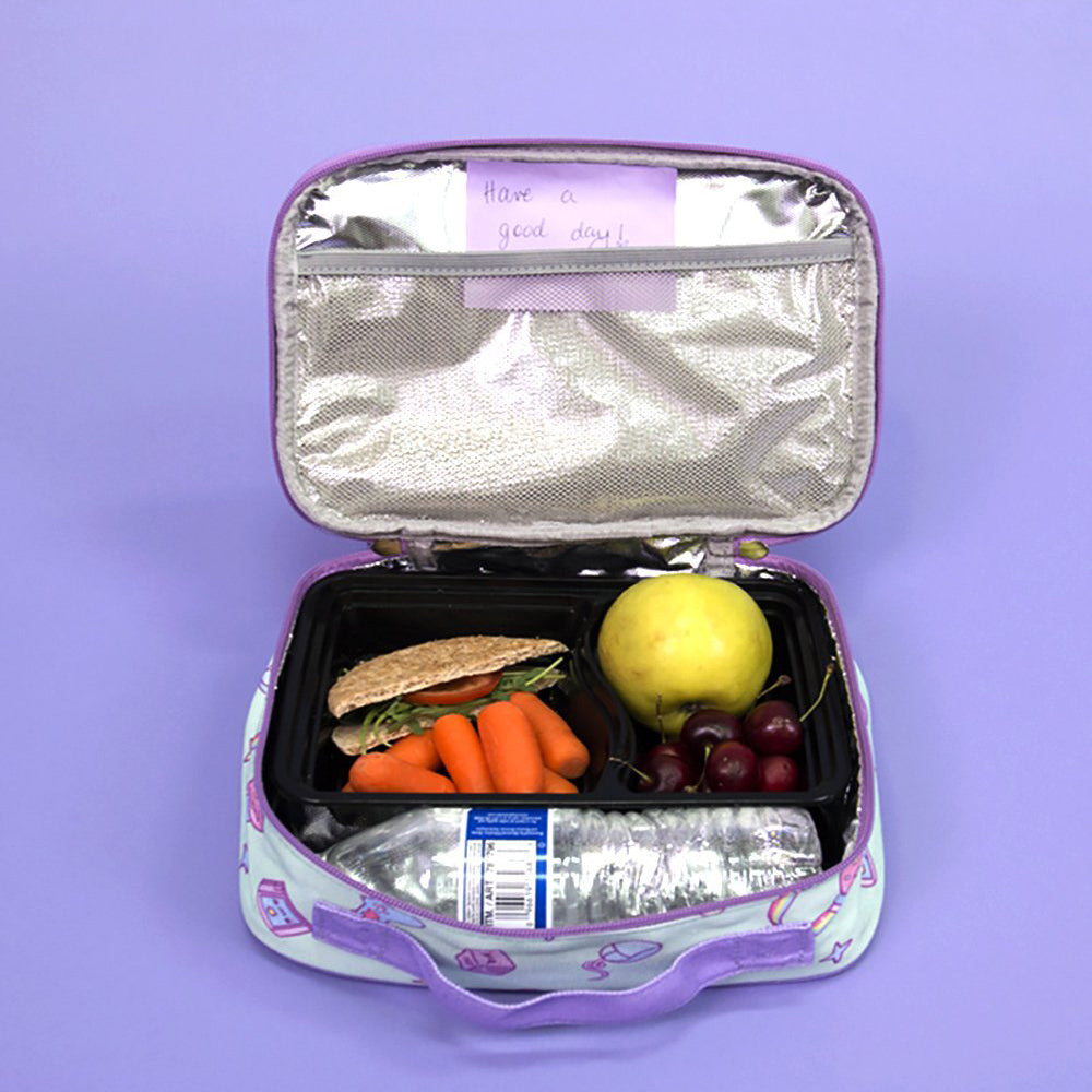 Load image into Gallery viewer, Kawaii Gamer Lunch Box (Purple/Mint)