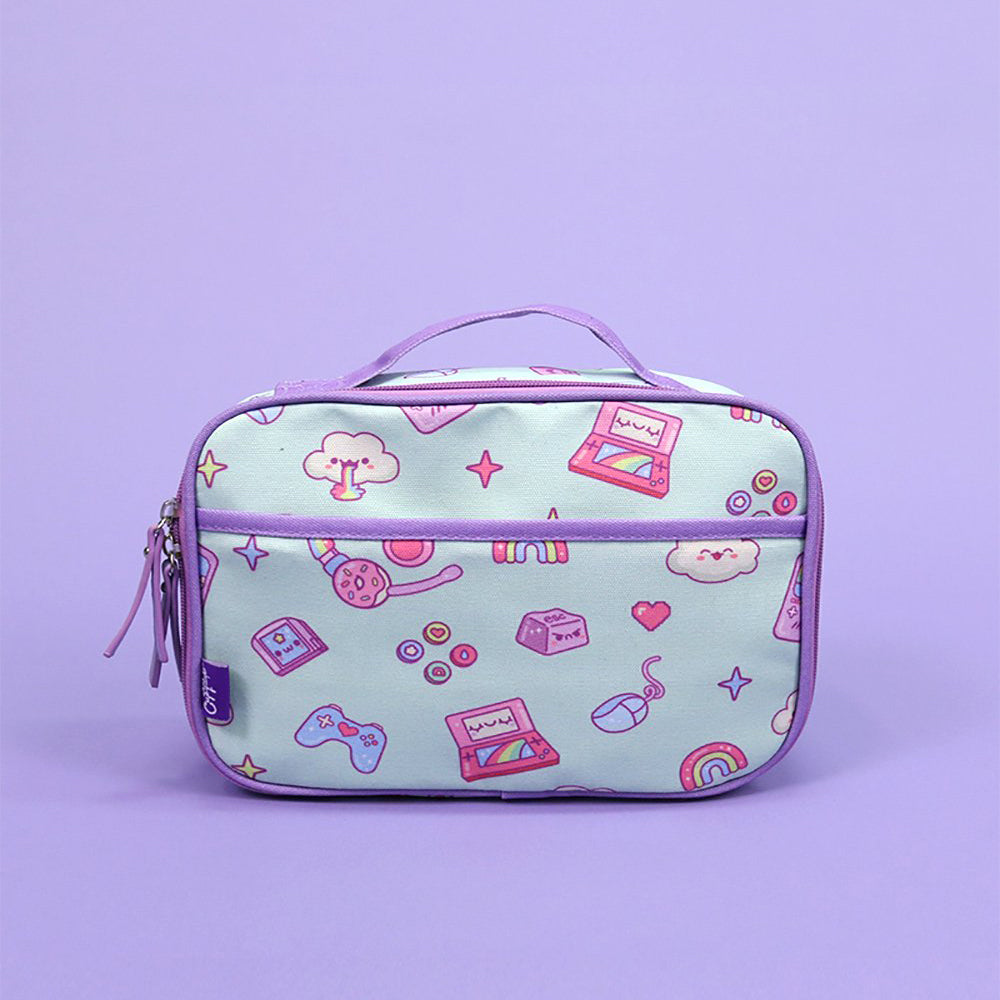 Kawaii Gamer Lunch Box (Purple/Mint)