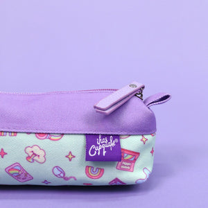 Load image into Gallery viewer, Kawaii Gamer Pencil Pouch (Purple/Mint)