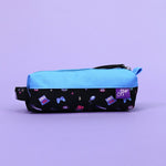 Kawaii Gamer Pencil Pouch (Black/Blue)