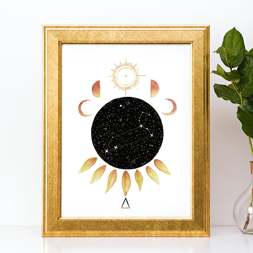 Load image into Gallery viewer, Zodiac Leo Art Print by Tiffyquake