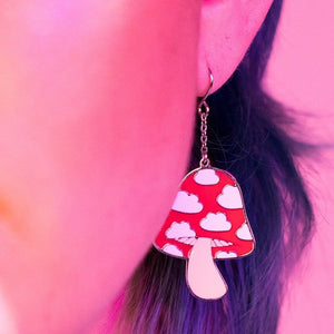 Load image into Gallery viewer, Mushroom Cloud Earrings