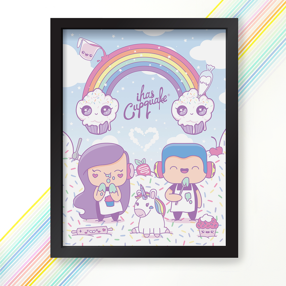 Signed! Rainbow Clouds Poster