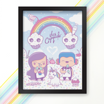 Pastel Rainbow Clouds Poster signed by iHasCupquake