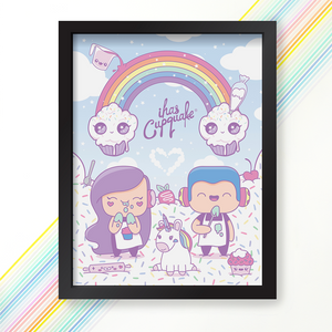 Load image into Gallery viewer, Pastel Rainbow Clouds Poster signed by iHasCupquake