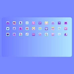 Load image into Gallery viewer, iOS 14 Neon Icon & Widget Pack by iHasCupquake