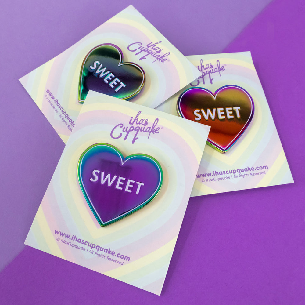 Load image into Gallery viewer, Sweetheart Rainbow Metal Pin by iHasCupquake