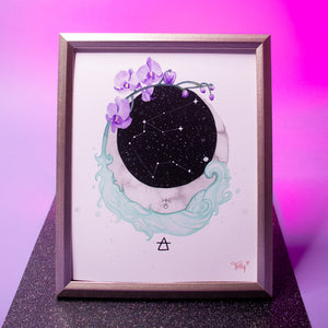 Load image into Gallery viewer, Aquarius Art Print (Zodiac Series)
