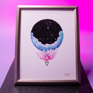 Load image into Gallery viewer, Pisces Art Print (Zodiac Series)