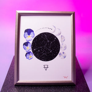 Load image into Gallery viewer, Virgo Art Print (Zodiac Series)
