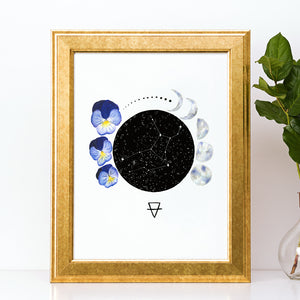 Load image into Gallery viewer, Zodiac Virgo Art Print by Tiffyquake
