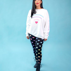 Load image into Gallery viewer, Digital Love Pixel Heart Leggings