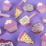 Bakery Pin Set (pizza, cupcake, spatula, concha)