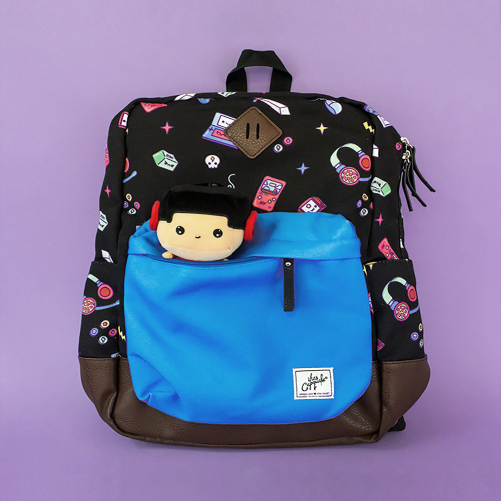 Load image into Gallery viewer, Kawaii Gamer Backpack (Black/Blue)