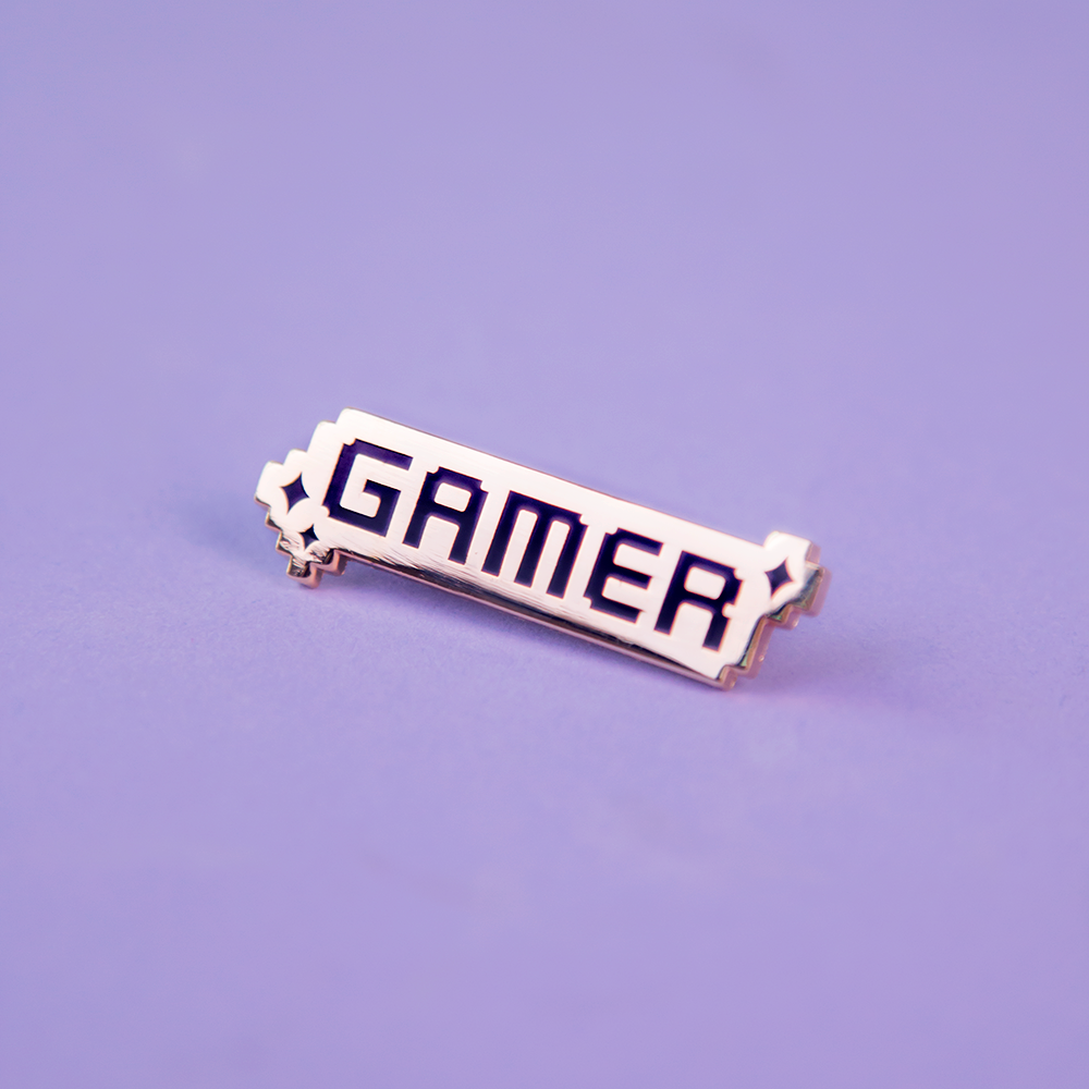 Pixelated Gamer Pin
