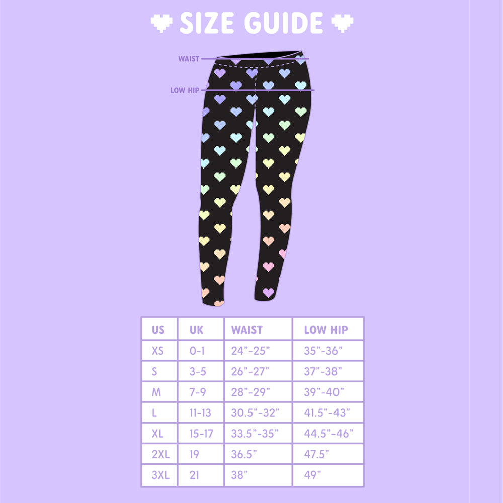 Load image into Gallery viewer, Digital Love Pixel Heart Leggings Size
