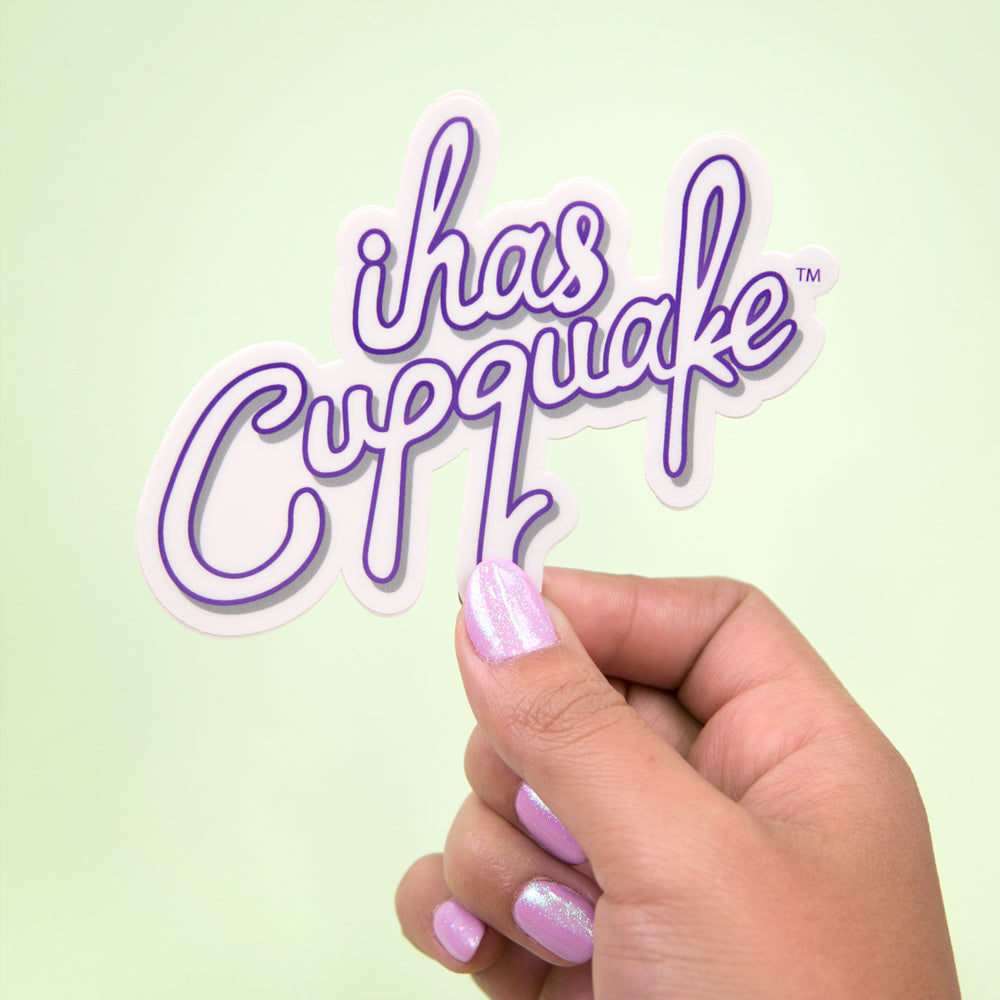Purple iHasCupquake Sticker