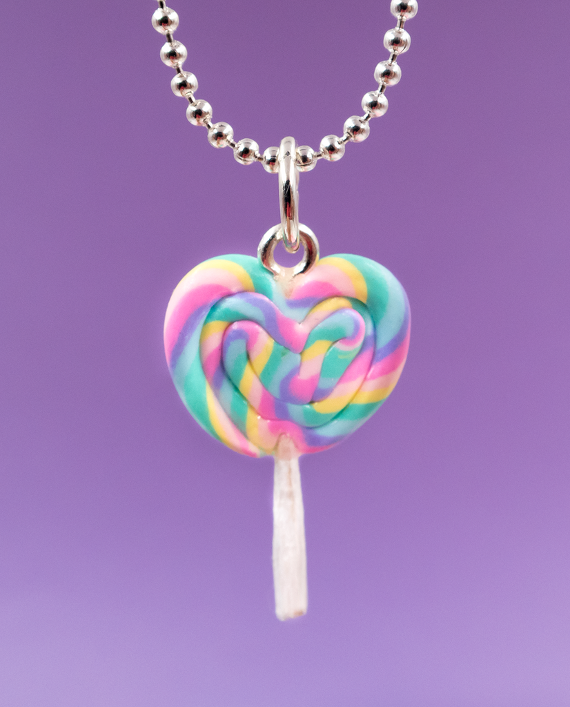 Scented Heart Lollipop Necklace