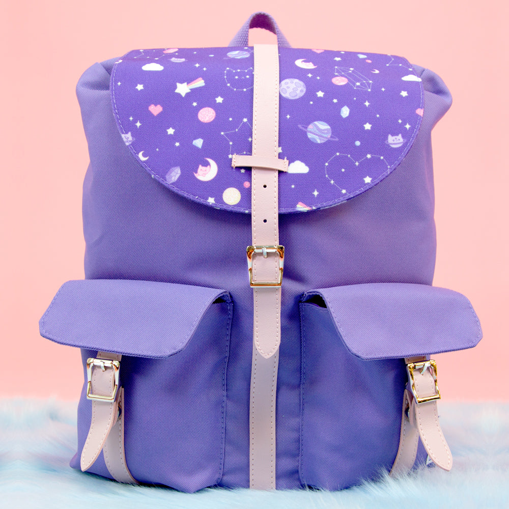 Load image into Gallery viewer, Ultra Violet Galaxy Backpack