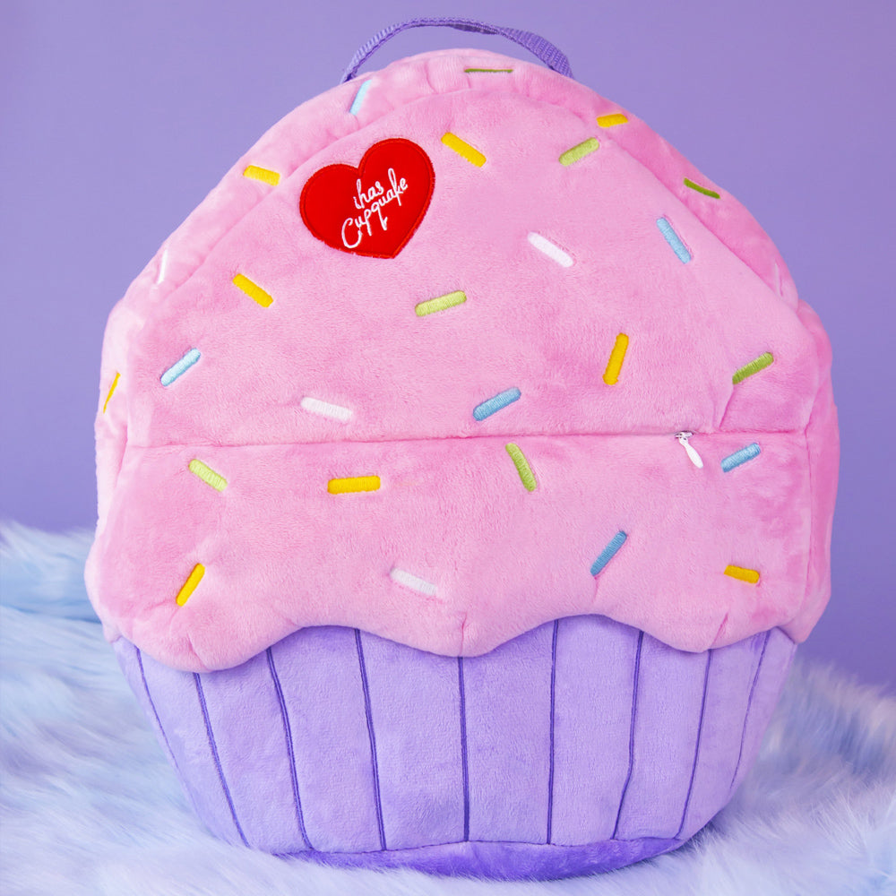 Pastel Plush Cupcake Backpack
