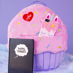 Load image into Gallery viewer, Plush Cupcake Backpack